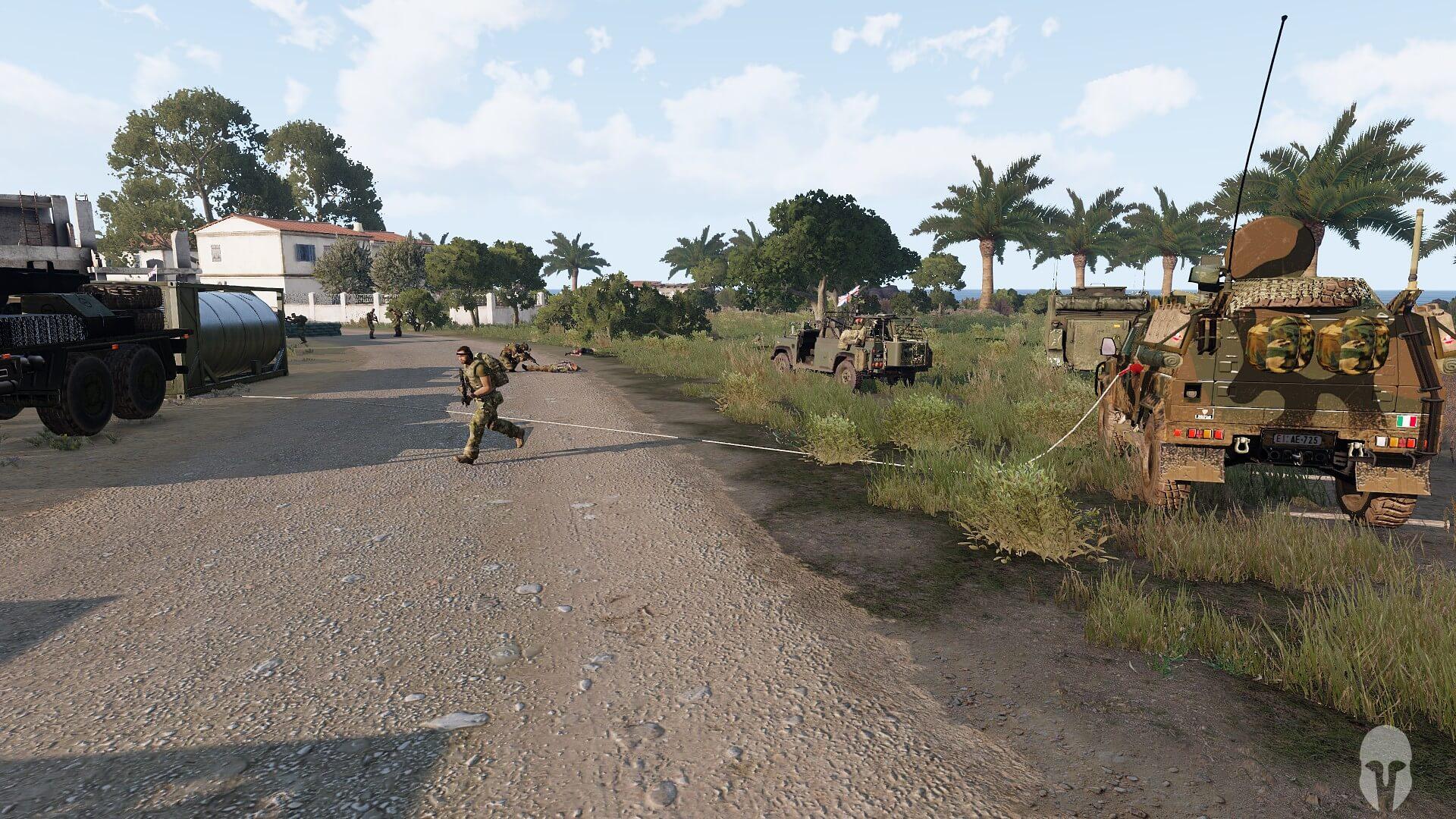 DAY 3 - Preparazione e rifornimento veicoli nei pressi della FOB della NATO